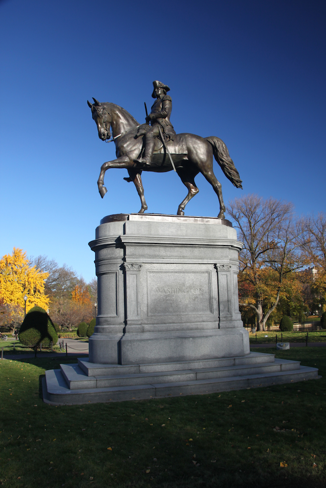 Statue George Washington im Boston Common