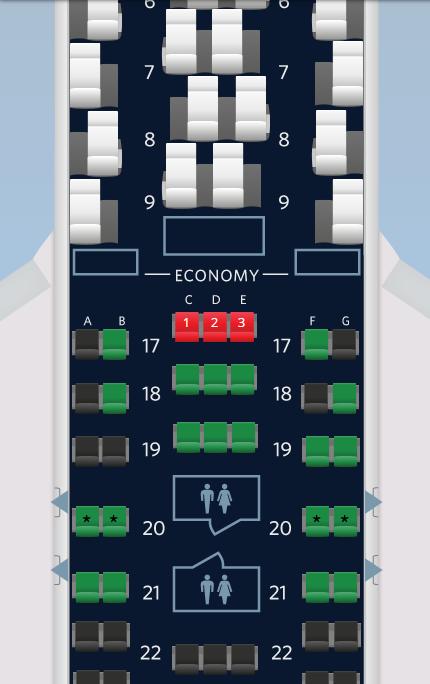 Sitzplatz Economy Comfort