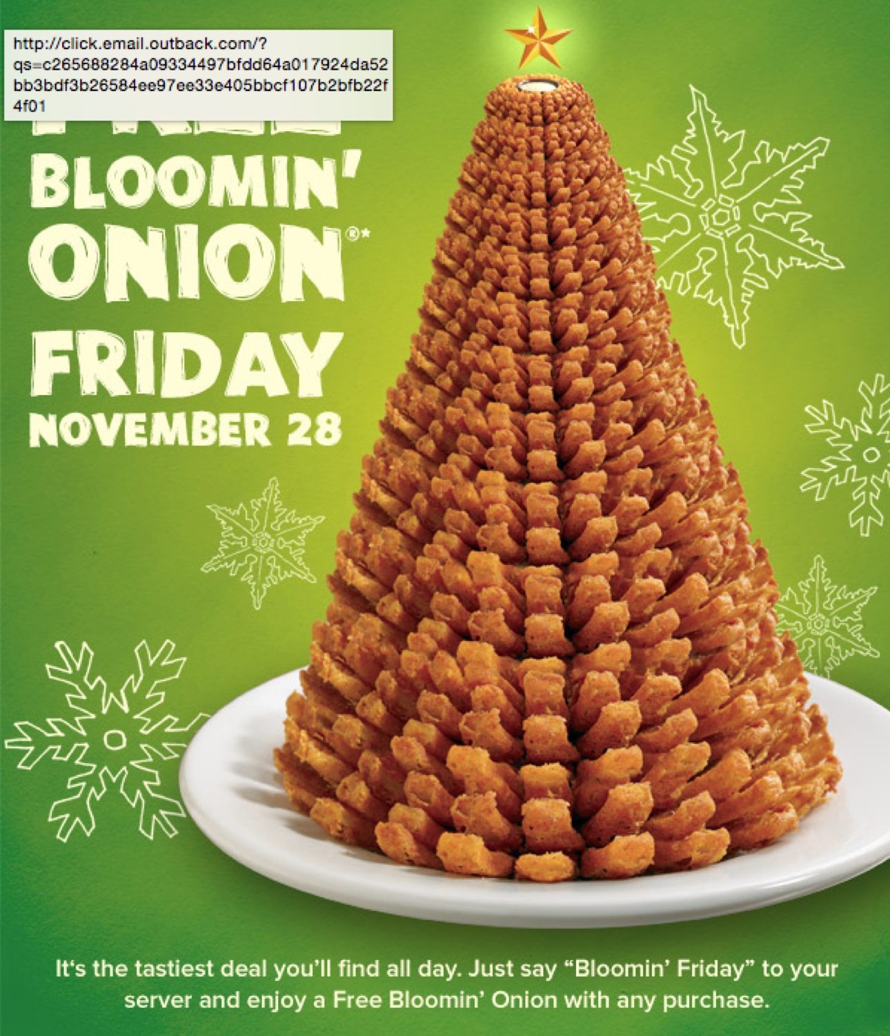 Free Bloomin Onions